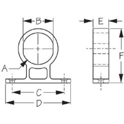 Round Power Socket/Meter Mounting Bracket