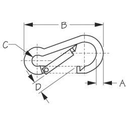 Mild Steel Snap Hook