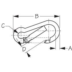 Snap Hook - Toothless, Key-Lock System