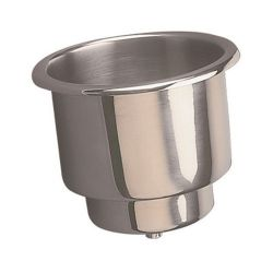 Sea-Dog Line Stainless Steel Flush Mount Combo Drink Holder - with Drain Fitting