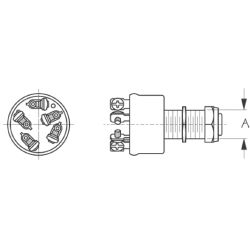 Three Position Ignition Switch - Magneto Style