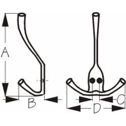 Triple Coat Hook