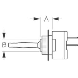 Two Position Toggle Switch