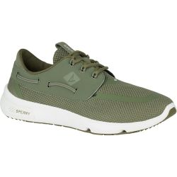 olive side view of Sperry Top-Sider Men's 7 Seas Boat Shoe