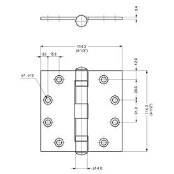 Butt Hinge with Ball Bearing