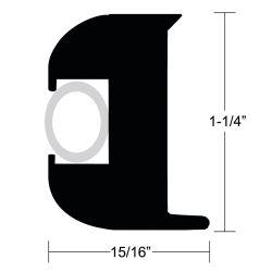 Dimensions of Taco Flexible Vinyl Rub Rail Kits - Style V11-3447