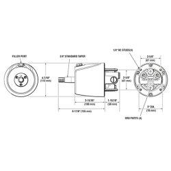 SeaStar Standard Helm Dimensions