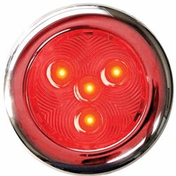 """TH Marine Supplies 3"""" Stainless LED Surface Mount Puck Light - Red"""