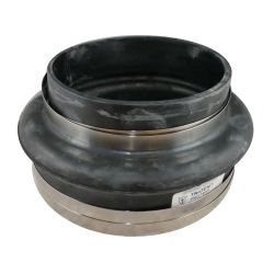 thhr-108ss of Trident Marine Hose & Propane THHR Series Step-Up High Temp Black Rubber Exhaust Bellows - Sgl Hump Hose