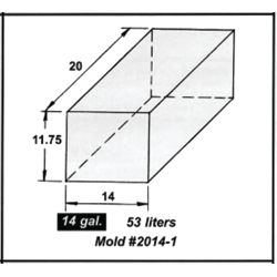 Dimensions of Trionic Corp 14 Gallon Short Rectangular Water or Holding Tank