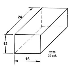 Dimensions of Trionic Corp 20 Gallon Long Rectangular Water or Holding Tank
