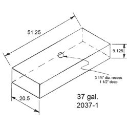 Dimensions of Trionic Corp 37 Gallon Long Rectangular Water or Holding Tank
