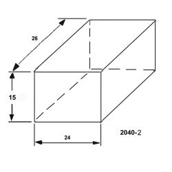 Dimensions of Trionic Corp 40 Gallon Short Rectangular Water or Holding Tank