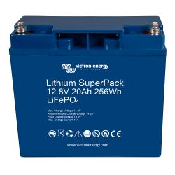 Top View of Victron Energy 12.8V Lithium SuperPack Batteries