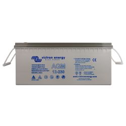 Front of Victron Energy AGM Super Cycle Battery, 230 amp