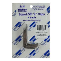 package of Weaver Industries L-Clips Set for Stand-Off Brackets