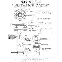 Diagram of Wema-System SHS Stainless Steel Holding Tank Sensor