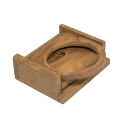 Whitecap Industries Teak Folding Drink Holder - Sized for Cans in Cozies & Water Bottles