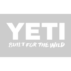 white of Yeti Coolers Built for the Wild Window Decal