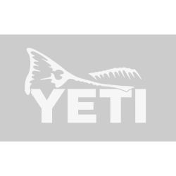 white of Yeti Coolers Redfish Tail Window Decal