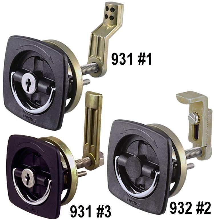932 Flush Lock and Latch Perko 0932 DP2 BLK Fig