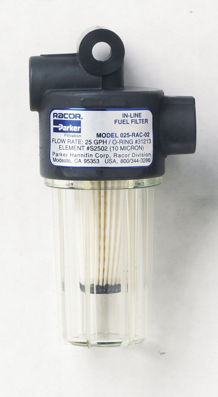 In Line Gasoline Fuel Filter Racor Fisheries Supply Model A Gas 10m 25gph