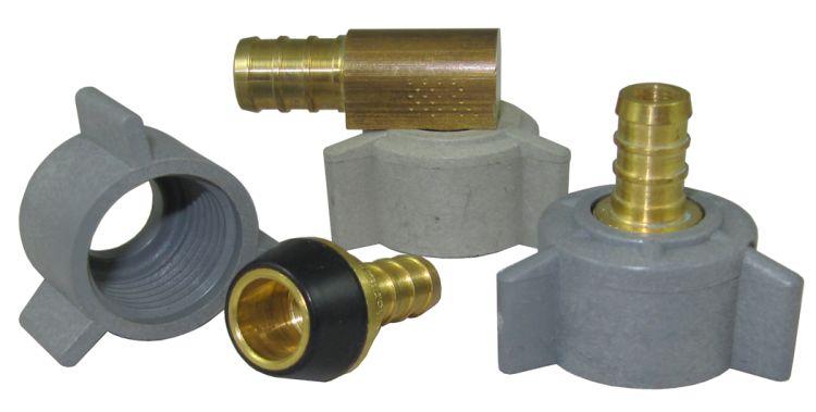 "Scandvik 10002 Brass Hose Adapter 3//8/"" BSP-M To 1//2/"" NPT-M"
