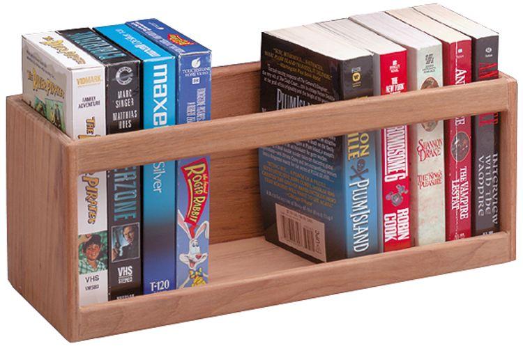 Whitecap Teak VHS Cassette//Paperback Book Rack