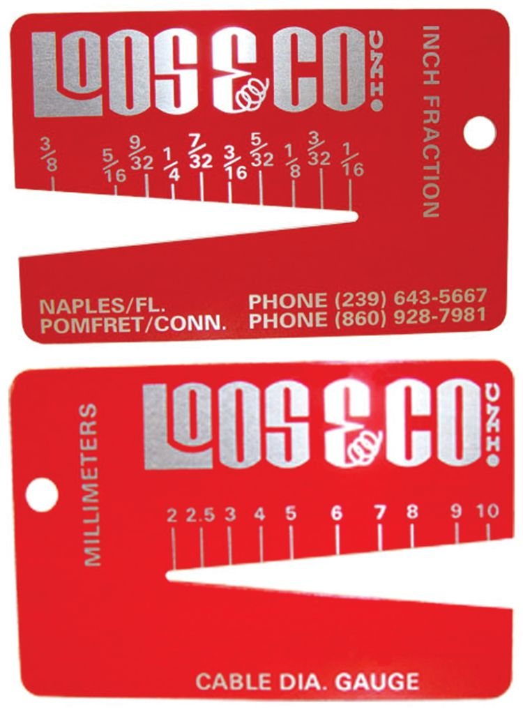 Pocket Cable Diameter Gauge - Up to 3/8\