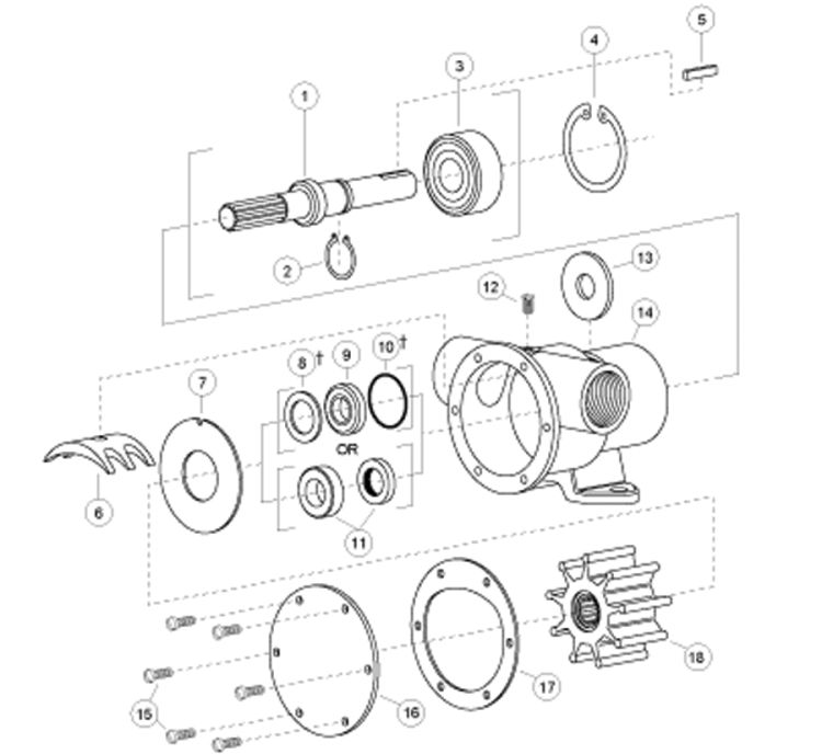 Jabsco 777 Parts: Cams, Seals & Service Kits | Fisheries Supply on bennett trim tabs wiring diagrams, 12v wiring diagrams, toggle switch wiring diagrams, home wiring diagrams, electric trailer brake wiring diagrams, dometic rv refrigerators wiring diagrams,