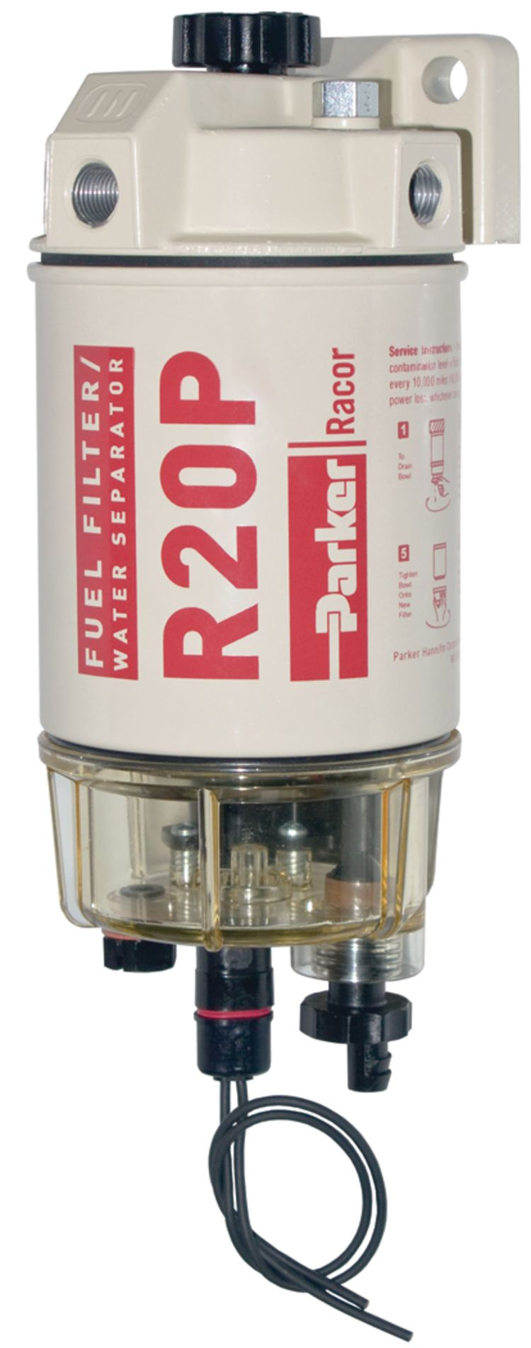 230R Diesel Spin-On Fuel Filter - with Clear Bowl and Heater