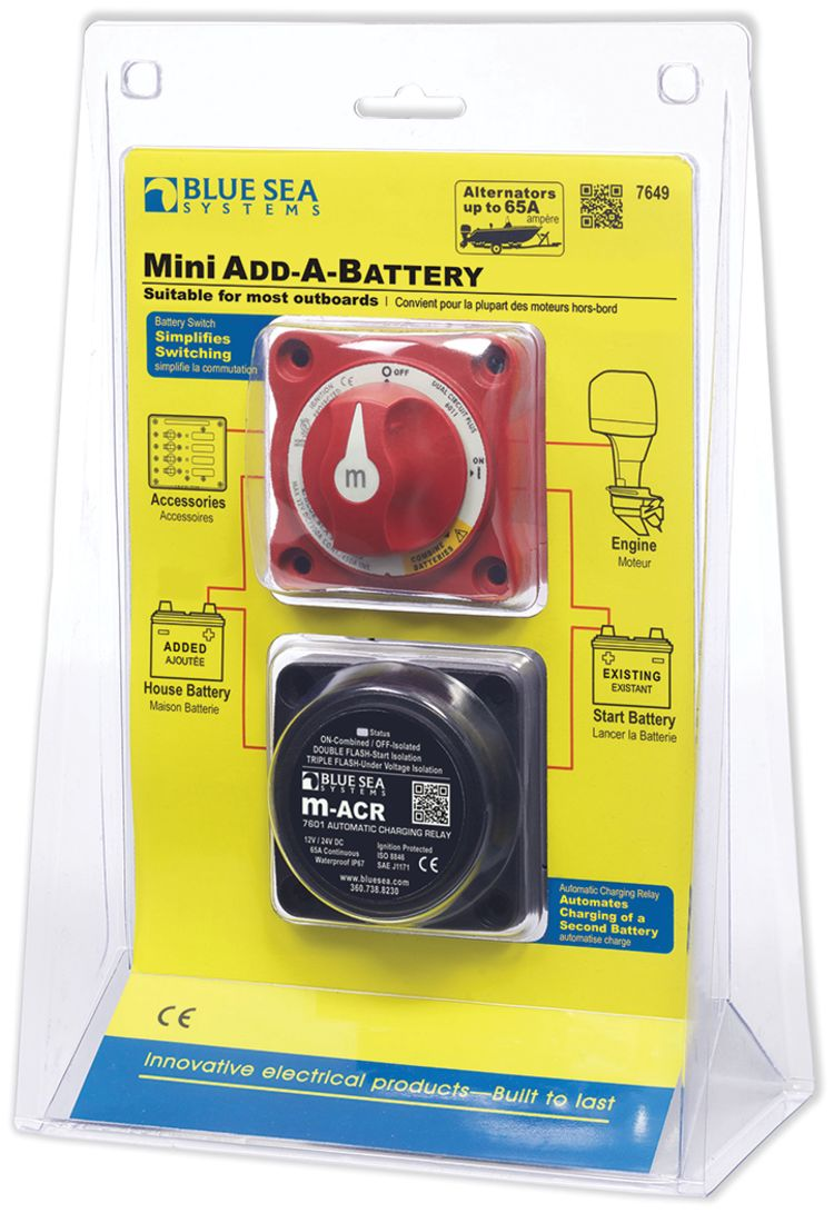 Blue Sea Systems Mini Add A Battery Kit - 65A