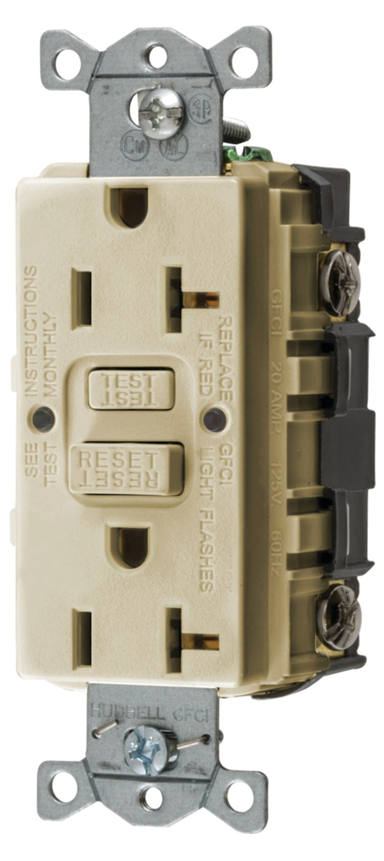 Hubbell Gfrst52mi Fisheries Supply Ground Fault Circuit Interruptor Interrupter Gfci Outlet