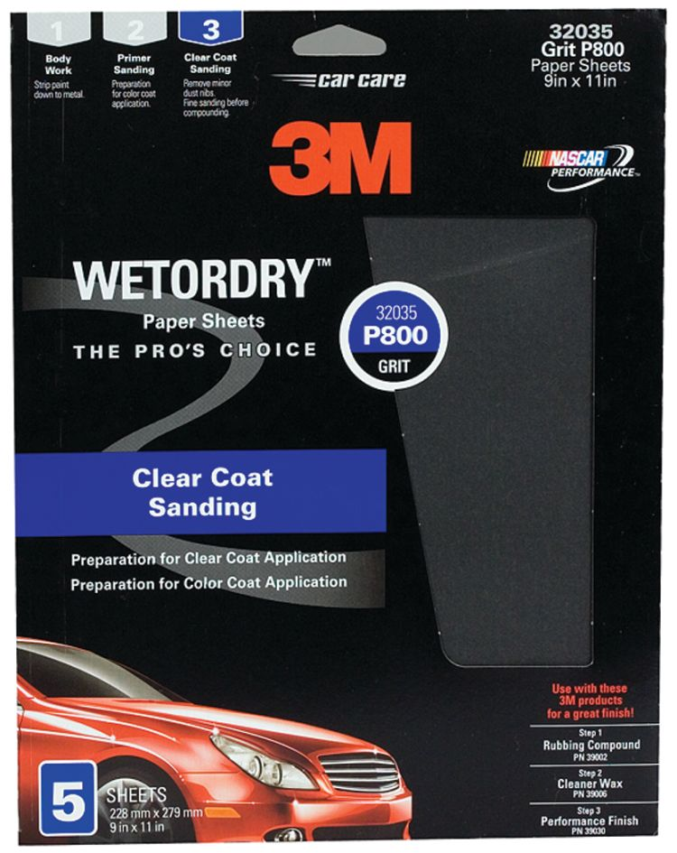 """New Imperial Wet Or Dry Paper Sheets 3m Marine 32035 Grade P800 9/"""" x 11/"""""""