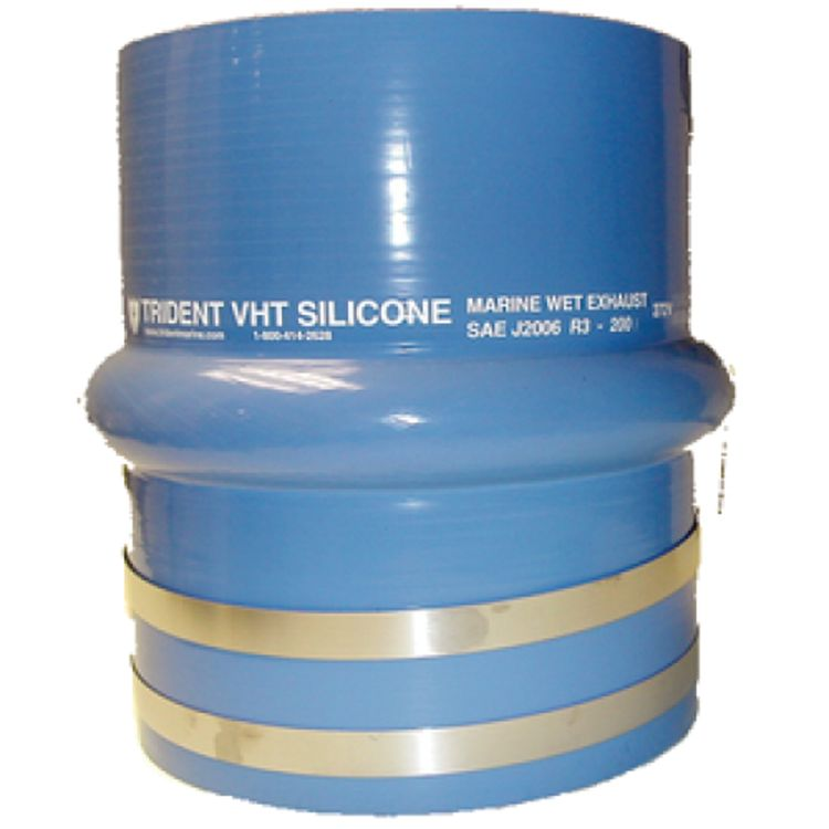 Straight Reinforced Silicone Exhaust Bellows with Clamps