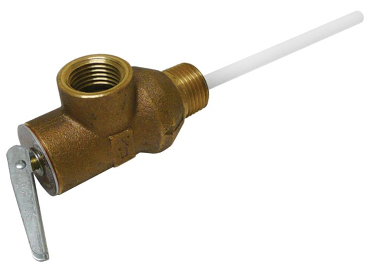 pressure temperature relief valve for seaward water heaters