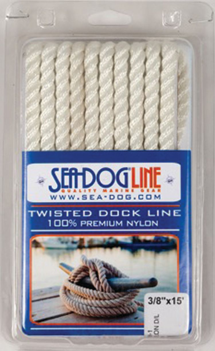 4 Pack of 5//8 Inch x 20 Ft Premium Twisted Nylon Mooring and Docking Lines