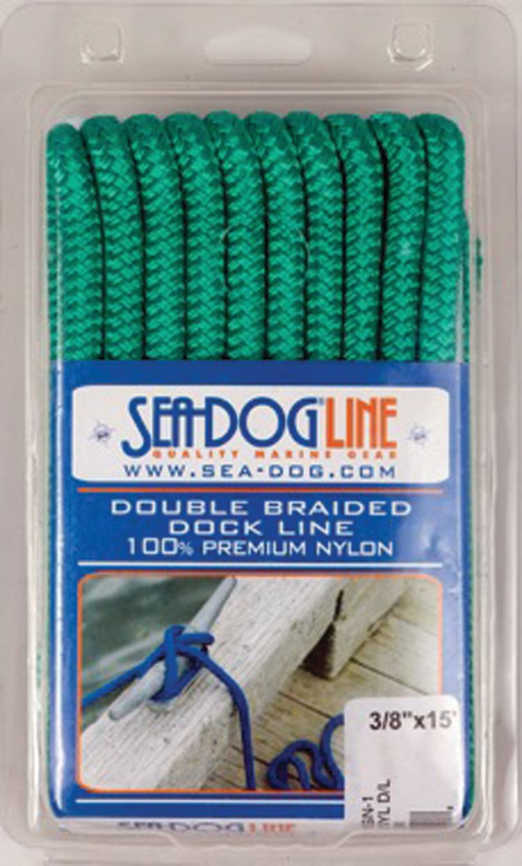 "ANCHOR ROPE DOCK LINE 5//8/"" X 50/' BRAIDED 100/% NYLON RED MADE IN USA"